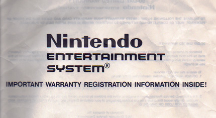 Warranty booklet cover
